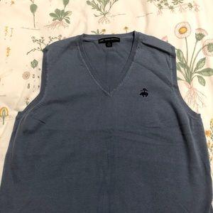 "Brooks Brothers ""346"" Blue V-Neck Sweater Vest"